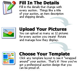 Our auction layout process is fast and easy.